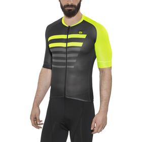 Alé Cycling PRR 2.0 Piuma Kortärmad cykeltröja Herr black-fluo yellow